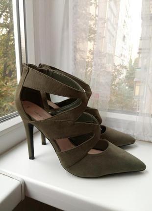 Туфли босоножки под замш замшевые