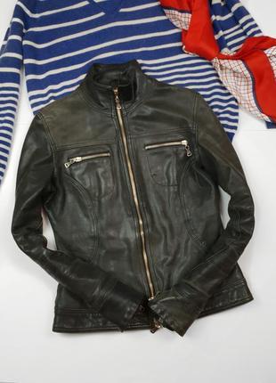 Кожанная куртка gf ferre оригинал кожа