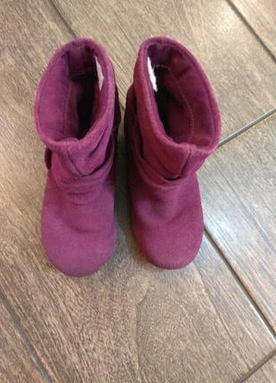 Натуральные розовые замшевые ботинки circo