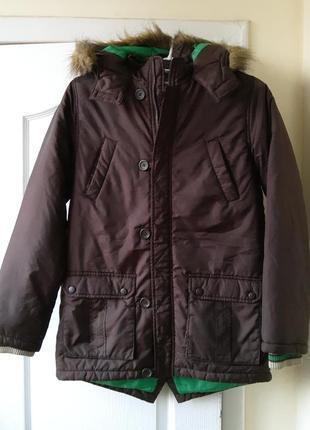 Курточка парка на мальчика 12-14 лет