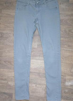 Серые базовые, стрейчевые женские джинсы calliope