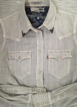 Джинсовая рубаха фирмы levis (оригинал)