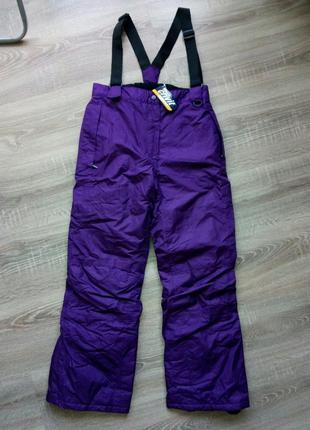 Новые детские теплые лыжные штаны на девочку
