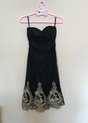 Новорічний розпродаж ! нарядное мини платье бандо от boohoo