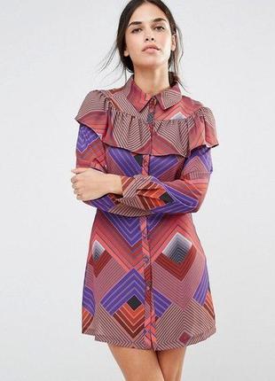 Ліквідація товару до 29 грудня 2018 !!! платье с длинными рукавами и оборкой liquorish