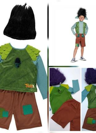 Прикольный яркий костюм троля цветана от george на 3-4 года