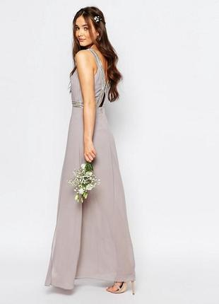 Плиссированное платье макси tfnc wedding