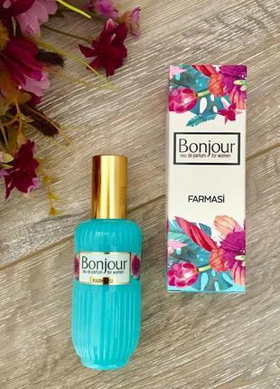 Парфюмированная вода bonjour farmasi