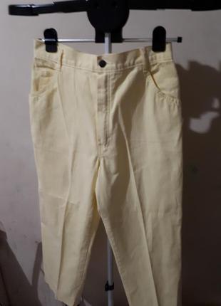 Стильные мом джинс желтые очень классные