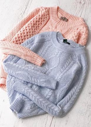 Тёплый свитер в косы h&m