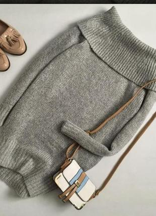 Трендовый удлиненный свитер со спущенными плечами new look