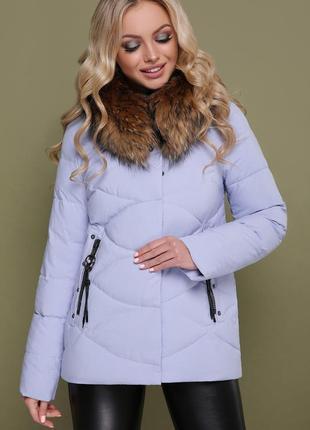 Женская зимняя куртка с капюшоном мех-енот размеры:s,m,2xl