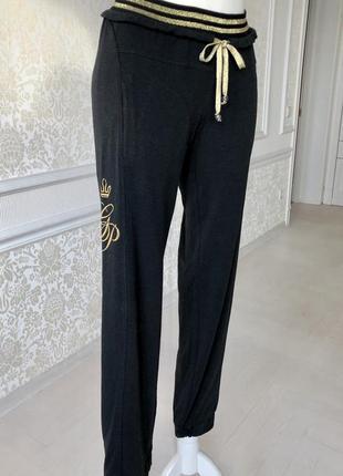 Брюки, штаны спортивные , прогулочные , чёрные размер м