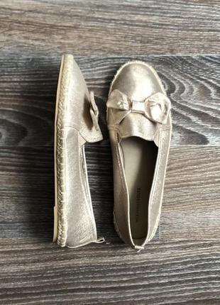 Новые эффективные блестящие золотые туфли балетки эспадрильи слипоны с бантом от heavenly