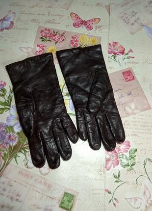 Жіночі шкіряні рукавички розмір 8