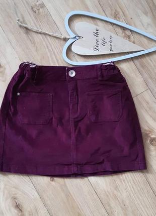 Вильветовая юбка zara