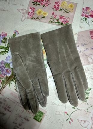 Жіночі рукавички із штучної замші розмір 8