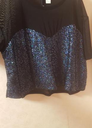 Нарядная блуза,паетки