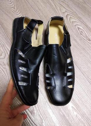 Туфли мужские кожаные натуральная кожа полиуретан