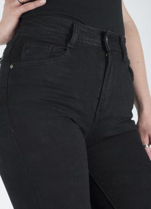 Джинсы американки с высокой посадкой женские узкие стрейчевые в обтяжку