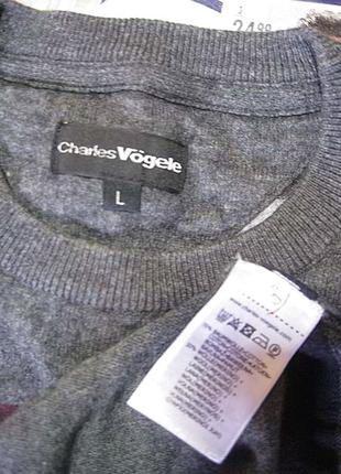 Стильный свитер от швейцарского бренда хлопок-шерсть