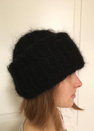Мохеровая шапка
