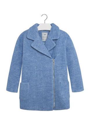 Новое голубое тепленькое пальто для девочки, mayoral, 7495