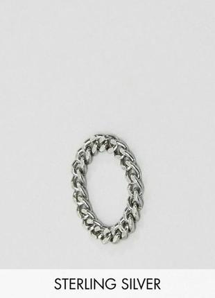 Мягкое кольцо цепочка серебро asos