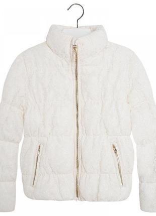 Новая зимняя кружевная куртка для девочки, mayoral, 7457