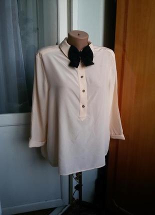 Шелковая блуза с бабочкой ted baker 100% шелк