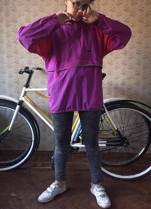 Трендовый анорак куртка дождевик компактный водоотталкивающий s-m пурпурный фуксия avia