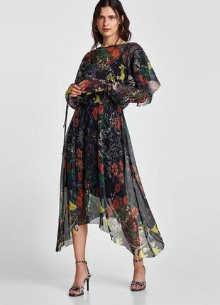 Платье zara xs s макси