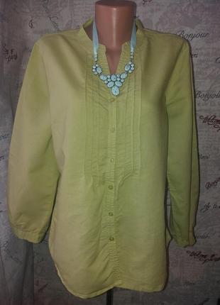Нежная блуза -лен 50/52размер