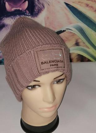 Стильные зимние женские шапки на флисе,р-р универсальный