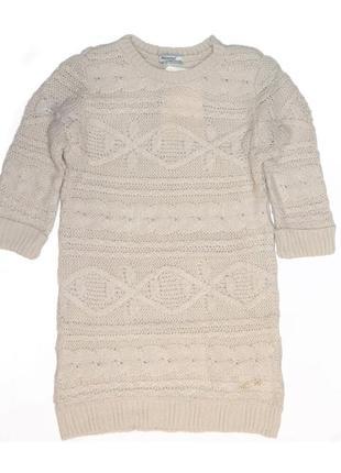 Новое вязанное бежевое платье для девочки, mayoral, 4957
