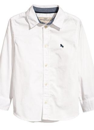 Новая сорочка белая с воротничком, h&m, 0568174