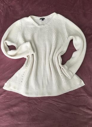 Белый свитер,большой размер