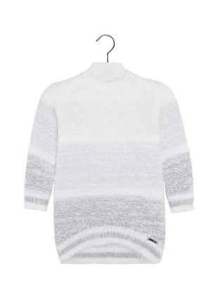 Новое вязаное платье с длинным ворсом для девочки, mayoral, 4953