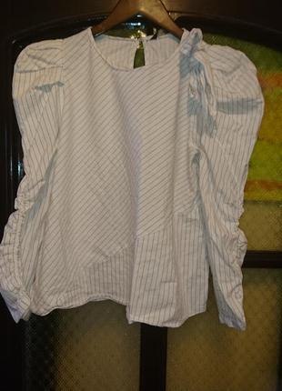 Блузка с бантом zara s-m