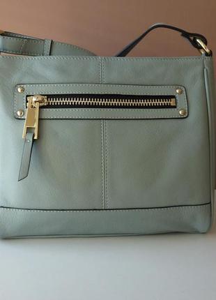 Кожаная сумка кроссбоди marks & spencer / шкіряна сумка