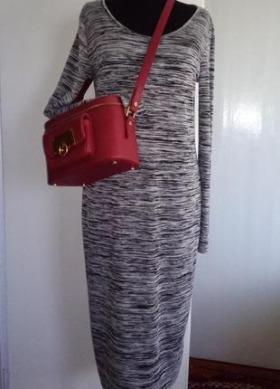 Стильное платье меланж f&f