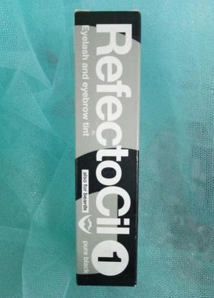 Refectocil краска для бровей и ресниц (глубокая черная), 15мл