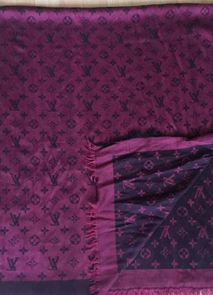 Платок шарф шаль 140*140 louis vuitton
