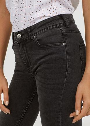 Плотные джинсы высокая посадка на пуговицах