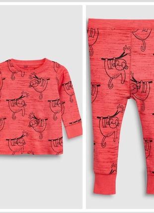 Хлопковая пижама на 3-4 года 104 см некст с обезьянами next
