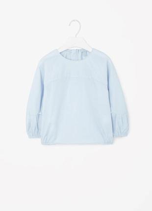 Оригинальная детская блуза от бренда cos разм. 86-92см