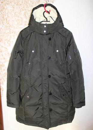 Шикарная зимний пуховик пальто на сильные морозы s.oliver р.18 xxl.