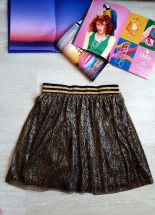 Блестящая юбка h&m /2я вещь в подарок