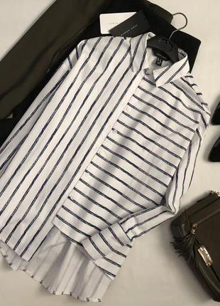 Невероятная хлопковая асимметричная рубашка оверсайз new look