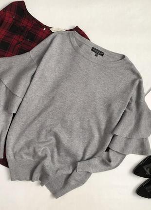Роскошный свитер с воланами на рукавах f&f